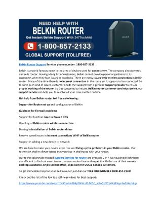 1800-857-2133 Belkin Router Global Technical Support Service Helpline Number