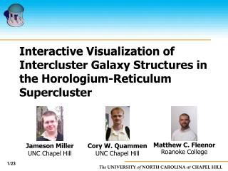 Interactive Visualization of Intercluster Galaxy Structures in the Horologium-Reticulum Supercluster