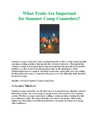 What Traits Are Important for Summer Camp Counselors.docx