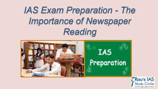 IAS Preparation - Importance of Newspaper Reading