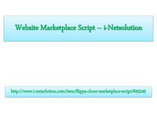 Website Marketplace Script – i-Netsolution