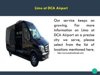 Limo at DCA Airport