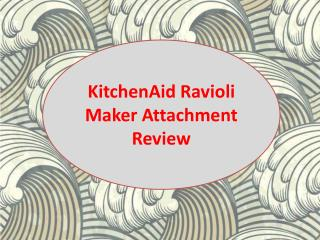 KitchenAid Ravioli Maker Attachment Review