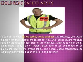 Childrens Safety Vests