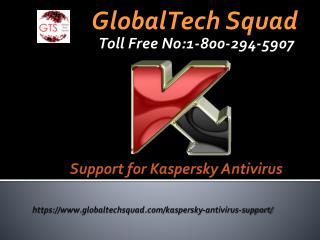 Support for Kaspersky Antivirus Call Toll Free 1-800-294-5907