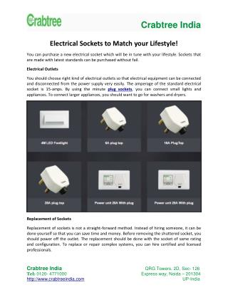 Electrical Sockets to Match your Lifestyle!