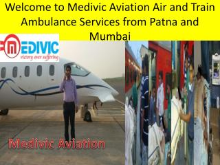 Emergency Air and Train Ambulance Services in Patna