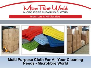Multi Purpose Cloth For All Your Cleaning Needs - Microfibre World