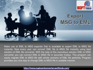 Export EML to MSG