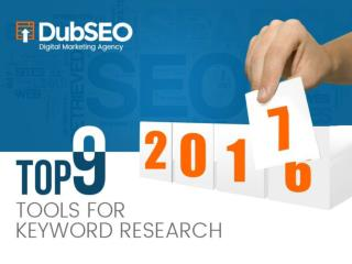 Top 9 Tools for Keyword Research