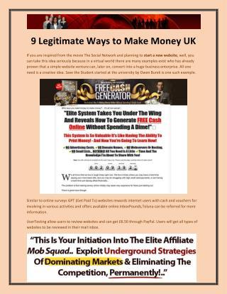 9 Legitimate Ways to Make Money UK