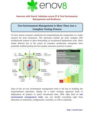 Test Environment Management is More Than Just a Complete Testing Process