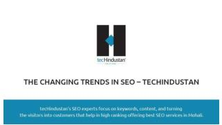 The Changing Trends in SEO – tecHindustan