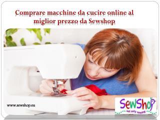 Comprare Macchina da cucire Singer online al miglior prezzo da Sewshop