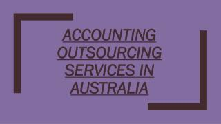 Accounting Outsourcing Services in Australia