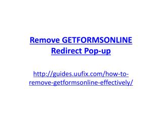 Remove Getformsonline Redirect Pop-up
