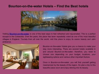 Bourton on the Water Hotels