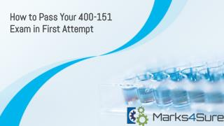 Marks4sure 400-151 Practice Test
