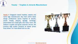 Best Online Awards & Trophies Manufacturer in Singapore