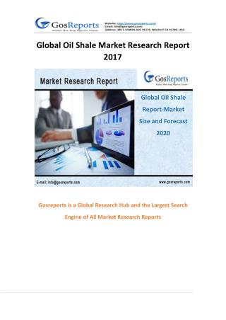 Global Oil Shale Market Research Report 2017