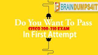 Cisco 200-310 Real Exam Questions Answers