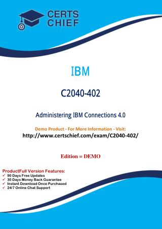 C2040-402 Certification Dumps with PDF Answers