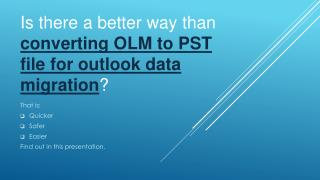 OLM to PST email conversion