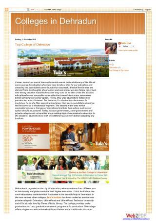 Top College of Dehradun