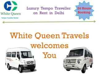 luxury Tempo Traveller on Rent in Delhi, Book online 9 seater Tempo traveller on hire