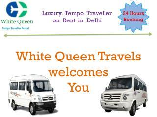 Luxury Tempo Traveller hire delhi, Rent online Tempo traveller booking