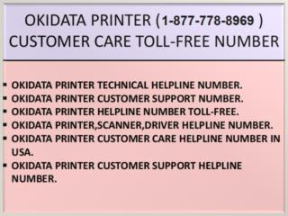 Today^^^**Quick~~ help (1-877-778-8969) Okidata Printer Support