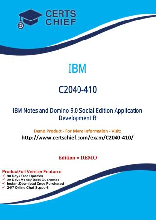 C2040-410 Latest PDF Questions and Answers