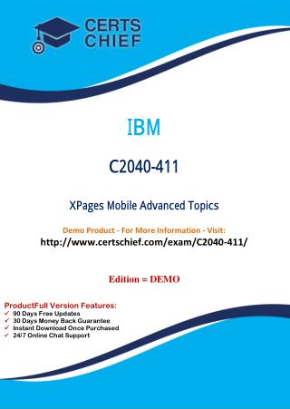 C2040-411 Latest PDF Questions and Answers