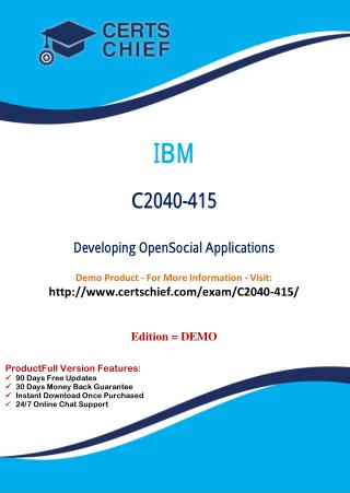 C2040-415 Latest PDF Questions and Answers