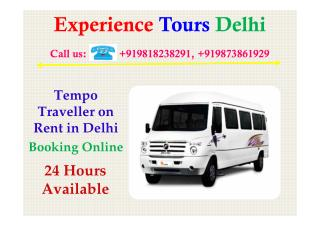 Tempo Traveller on Rent Delhi, Hire online Tempo Traveller delhi