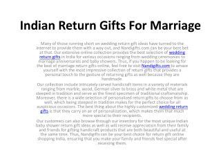 Wedding Return Gifts