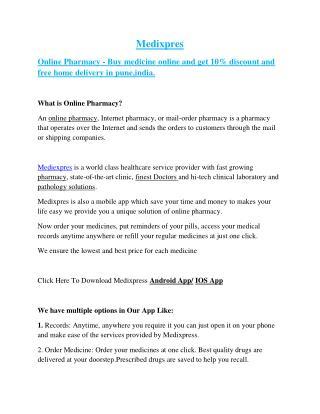 MEdixpres-Online pharmacy