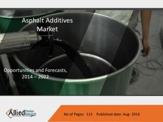 Asphalt Additives Market to have worth $2,302 million by 2022