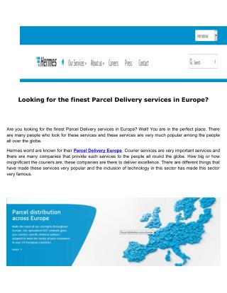 The best Parcel Delivery services in Europe