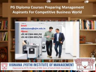 PG Diploma Courses- Preparing Management Aspirants For The Highly Competitive Business World
