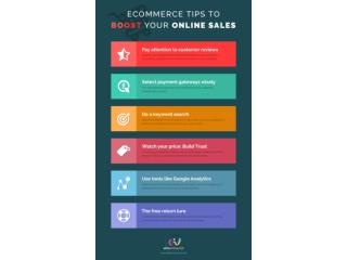 Ecommerce tips to increase your online sales infographics