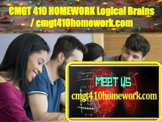 CMGT 410 HOMEWORK Logical Brains / cmgt410homework.com