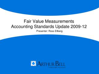 Fair Value Measurements Accounting Standards Update 2009-12