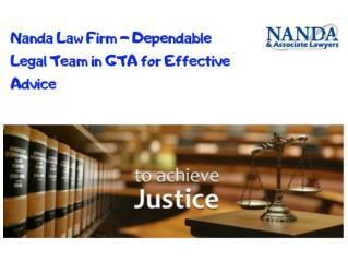 Effective Legal Advice Mississuga | Nanda Law Firm