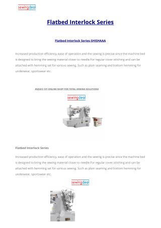 Flatbed Interlock Series