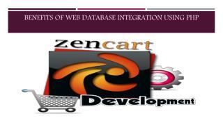 Benefits Of Web Database Integration Using PHP