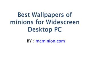 Best Wallpapers of minions for Widescreen Desktop PC