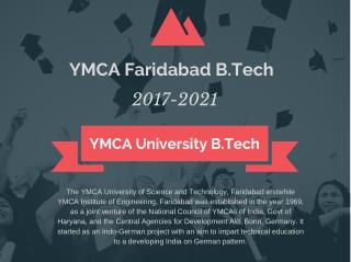YMCA B.Tech Admission