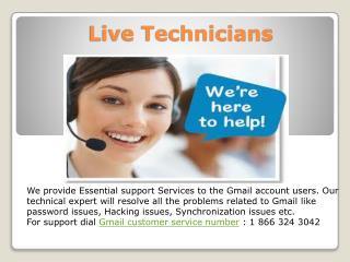Live technicians: Technical Support Services