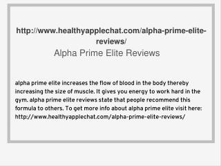 http://www.healthyapplechat.com/alpha-prime-elite-reviews/
